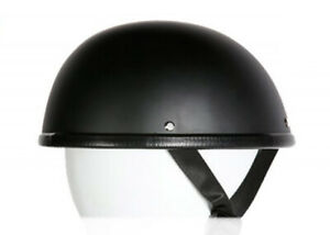 Novelty EZ Rider Style Flat Black Low Profile Half Helmet