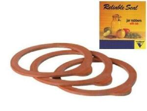 Jar Seals/Rings *Natural Red Rubber* (SUPER Size) for Latch/Wire Lids *3-Pack*