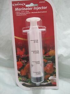 Marinade Injector Syringe Cook Flavor Needle For Meat Turkey Steak BBQ Seafood