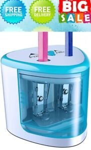Electric pencil sharpener Battery-powered pencil automatic pencil sharpener-blue