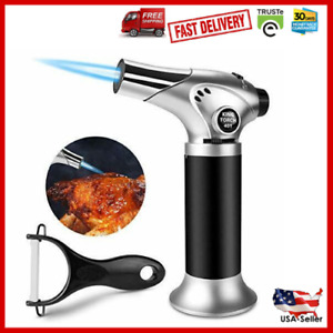 Refillable Butane Gas Blow Torch Soldering Welding Gun Burner Kitchen Lighter