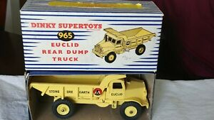 Vintage Dinky Supertoys #965 Euclid Rear Dump Truck NM in Box