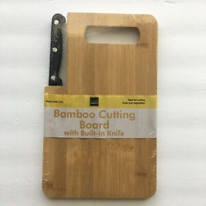 Bamboo Cutting Board and Knife set | Travel Useful! Free Shipping
