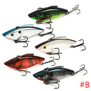 Lot Of 5 Fishing Lure Lipless Crankbalts Bibless Sinking Lures Vibrations Tackle