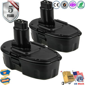 2-pk NEW Upgraded for DeWalt Battery DC9096 DC9098 DC9099 DW9095 18V18 Volt XRP
