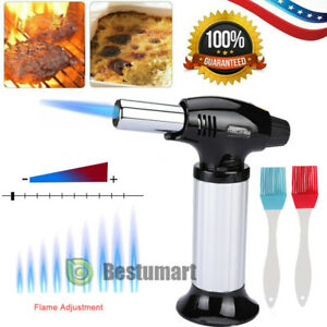 4 Flame Blow Lighter Kitchen Butane Culinary Torch Chef Cooking Torch Refillable