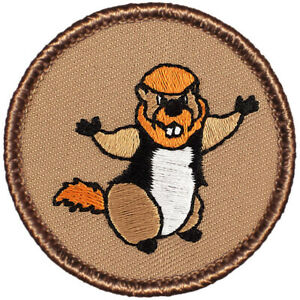 Woodchuck Norris Patrol Patch 2quot; Round Embroidered Patch