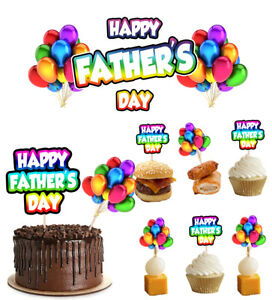 Fathers Day Balloon Decorations Decorating Kit Banners Food Cupcake Toppers