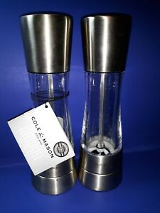 COLE & MASON Derwent Salt and Pepper Grinder Set - Stainless Steel Mills