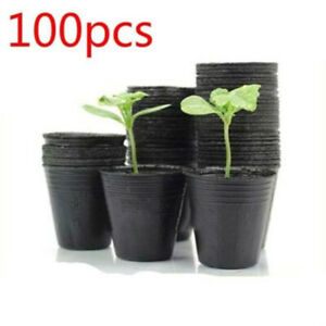 100X Garden Plastic Thicken Nutritional Plant Seedling Pot Quality Durable Hot