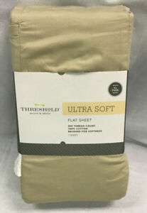 Threshold Ultra Soft Ivory XL Twin Flat Sheet 300 Thread Count 100% Cotton