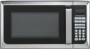 Stainless Steel Microwave Oven Dorm College Apartment 900w LED Countertop Home