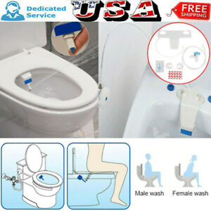 Bathroom Bidet Toilet Fresh Water Spray Clean Seat Non-Electric Kit Attachment