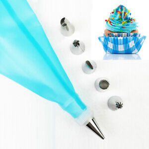 1 Set Cream Pastry Bag Cooking Kitchen Cake Decorating Tool Piping Nozzle N