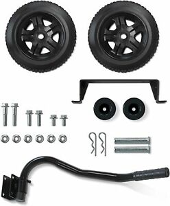 Wheel Kit with Folding Handle and Never-Flat Tires for Champion 2800-4750-Watt