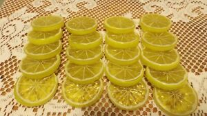 Lemon Slices, Artificial Lemon Slices, Fake Fruit Tiered Tray Home Decor Country