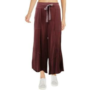 FP Movement Stride On Lightweight Raw Hem Wide Leg Cropped Athleisure Pants