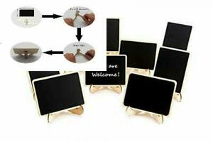 10 Pack Mini Chalkboards Signs with Easel Stand, Small Rectangle Small, Black