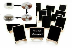 20 Pack Wood Mini Chalkboards Signs with Support Easels, Original Version