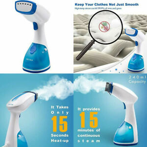 Secura Garment Steamer for Clothes, Portable Handheld Blue and White
