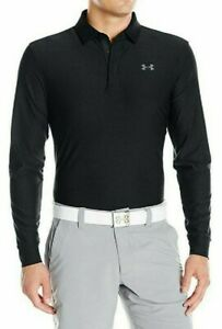 Under Armour Men's Playoff Long Sleeve Golf Polo, Black Graphite XL Tall $39.95