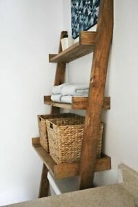 Over the Toilet Ladder Style Shelf/Storage Organizer Rustic Active