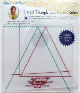 Quilt In A Day Larger Triangle In A Square Rulers $38.99