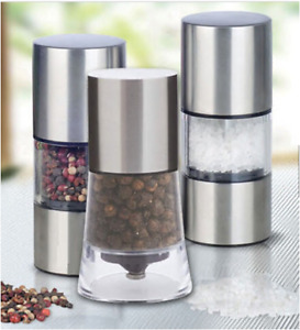 HOME KITCHEN TOOL STAINLESS STEEL MANUAL SALT PEPPER MILL GRINDER MULLER 2DESIGN