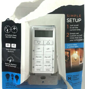 New! My Touch Smart Simple Set In-Wall Timer 26893 (8936)