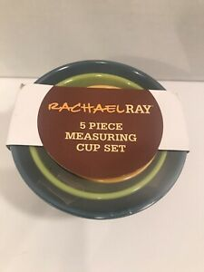 Rachael Ray Measuring Cups Set 5-Piece Melamine Nesting Assorted Colors NEW