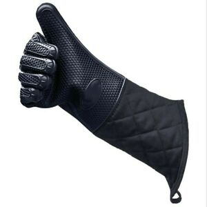 1 PCS Kitchen Microwave Oven BBQ Heat Resistant Longer Silicone Glove Mitts US