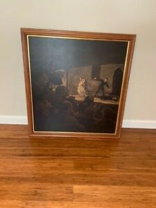 Framed Honore Daumier lithograph of The Drama 29