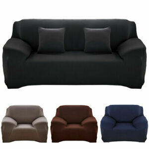 Solid Color Sofa Cover Stretch Seat Couch Cover Love Seat Funiture Slipcovers US