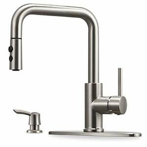 Kitchen Faucet with Pull Down Sprayer and Soap Dispenser Single Handle