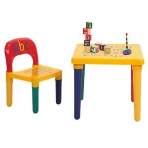 New Style Kid Plastic Table and Chair Set Furniture Activity Toddler Toy Play