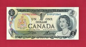 BEAUTIFUL GEM UNC CRISP One 1 DOLLAR 1973 OTTAWA CANADA Note P 85c Last Issue