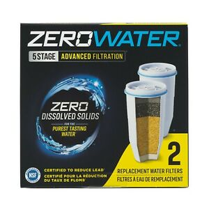 ZERO WATER 2-Pack Replacement Filters 5 Stage ZR-017 Fast Shipping