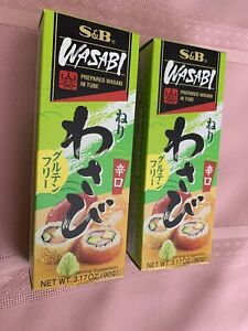 [ 2 Pack ] S&B Japanese Prepared Wasabi in Tube Net Wt 3.17OZ (90g)New Product