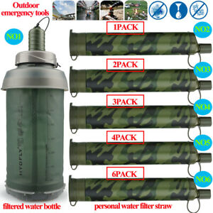 Water Bottle|Portable Water Filter Straw&Purifiers for Camping,Backpack,Survival