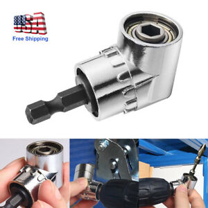 Right Angle Drill Bit Adapter Attachment 1 4quot; Drive 6mm Hex Magnetic Bit Socket $8.30
