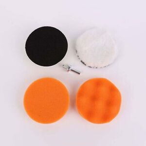 5Pcs Set 4 Inch Polishing Pad Replacement Car Attachment Detailing Buffer Drill