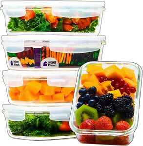 Glass Meal Prep Containers Food Containers Glass 5 Pack 29 Oz 3.5 Cups ... $23.99