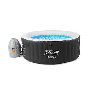 Coleman Miami Spa 4 Person Portable Inflatable Outdoor Air Jet Hot Tub Black