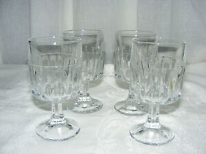 Vintage Libbey Dura Tuff Glass 8 Oz Stem Ware Winchester Set of 4
