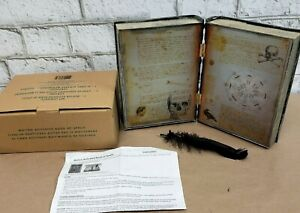 New Motion activated Book of Spells hauntin Sounds feather Halloween home decor