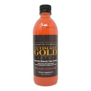 New STRAWBERRY Flavored ULTIMATE GOLD DETOX DRINK 16OZ Works in One Hour $18.88