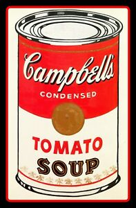 5quot; Andy Warhol Campbell#x27;s Soup Can vinyl sticker. Classic Pop Art decal 4 laptop $2.95