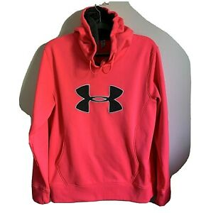 Under Armour Womens' Large Hoodie Pink Semi Fitted Storm Cold Gear $19.00