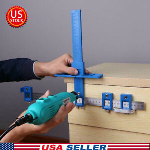 Punch Locator Tool Drill Guide Sleeve Cabinet Jig Drawer Pull Wood Dowelling USA