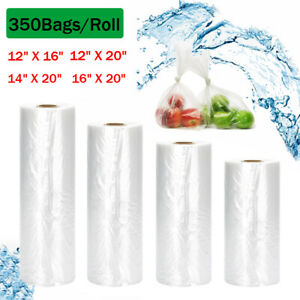 350Pcs Clear Plastic Produce Bags on Roll Kitchen Fruits Vegetables Food Storage